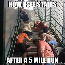 Exhausted Meme - how i see stairs after a 5 mile run exhausted meme generator