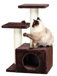 Modern Cat Scratching Post Amazon Com Trixie Pet Products Valencia Cat Tree Beige Cat