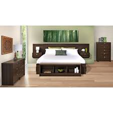 Bed With Attached Nightstands Valhalla Designer Series Floating King Headboard Free Shipping
