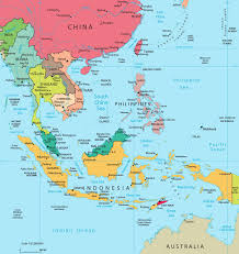 Asia And South Pacific Map by Map Of Asian Islands Major Tourist Attractions Maps