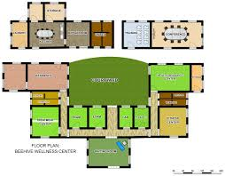 Health Center Floor Plan Health Beehive Wellness Center
