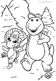 barney coloring pages bestofcoloring com