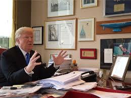 a look inside donald trump u0027s manhattan office business insider
