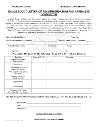 personal letter of recommendation forms and templates fillable
