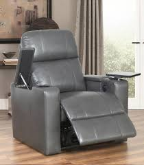 Grey Leather Recliner Recliners Crystal Pushback Leather Recliner Red