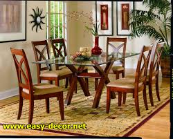 Dining Room Sets Glass Top by Dining Table Glass Top Wood Base Lakecountrykeys Com