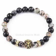 european beads bracelet images European 8mm marble beads stretch religious alloy lion energy jpg
