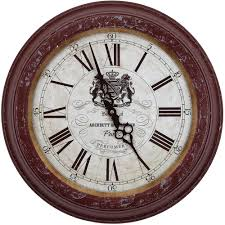 yosemite home decor 16 in circular iron wall clock in distressed