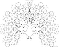 peacock coloring pages printable for kidsfree printable coloring
