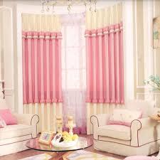 deramy pink kids blackout curtain lace element