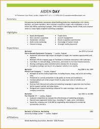 Job Resume Highlights by 10 Resume For Marketing Job Paradochart