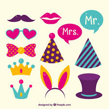 Photo Booth Accessories Download Vector Photo Booth Party Accessories Set Vectorpicker