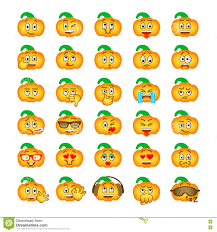 halloween background emoji halloween pumpkin emoji emoticons stock vector image 77366177