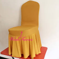 gold chair covers wedfavor 100pcs gold ruffled lycra stretch swag bottom chair