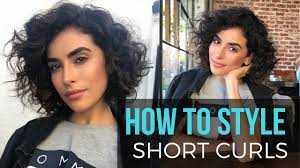 hair style of karli hair how to style short curly hair wet to dry tutorial youtube