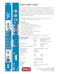 rolls music mixer party mix rm75 user u0027s manual download free