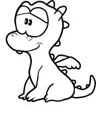 Coloriage bébé dragon à imprimer
