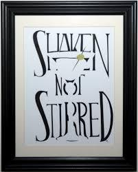 james bond martini shaken not stirred shakin not stirred