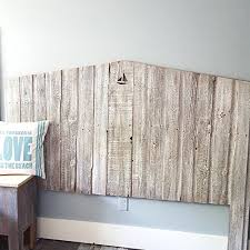 amazon com whitewash reclaimed wood headboard with personalized