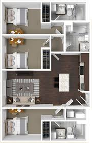 floor plan with 3 bedrooms floorplans the cadence tucson