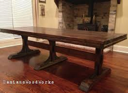 Custom Built Dining Room Tables by Handcrafted Farmhouse Dining Table For The By Damianswoodworks