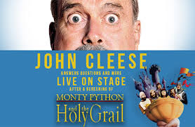 john cleese with screening of monty python u0026 the holy grail