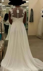 david u0027s bridal cap sleeve chiffon a line with floral applique