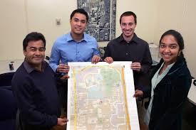 Fullerton College Campus Map Engineering Team Takes Third In Map Contest