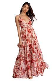chiffon dress pink floral chiffon dress