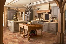 Thomasville Chandeliers Thomasville Cabinets Kitchen Farmhouse With Beadboard Beige Walls