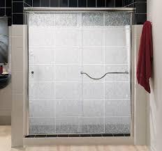 White Shower Door Frosted Glass Shower Door Framed Glass Sliding Shower Door