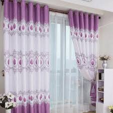 Plain White Curtains Floral Pattern Curtains In Two Tones Color Transparent White