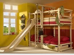 Bunk Beds With Slides  Bunk Bed With Slide For Childrens Rooms - Slides for bunk beds