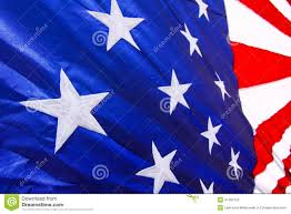 Us Flag Stripes Number American Flag Closeup White Stars Blue Background Stock Image