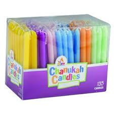 hanukkah candles colors pack multicolor hanukkah candles 135 pack