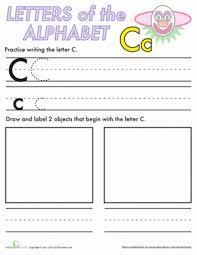 alphabet practice c worksheet education com