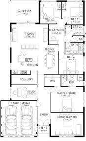 One Story House Plans With Walkout Basement by Single Story Floor Plan U2013 Laferida Com