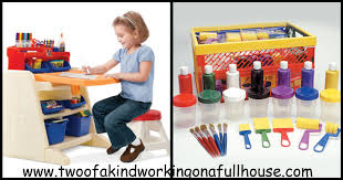 csn stores step 2 easel desk and early childhood resources paint