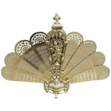 folding fan brass figural pierced folding fan screen circa 1820