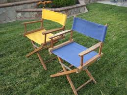 Canvas Outdoor Chairs 2 Vintage Folding Camping Canvas Directors Chairs Wood Tailgate