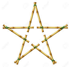 Decorative Bamboo Sticks Bamboo Sticks In The Shape Of A Star As An Exotic Decorative
