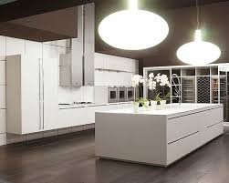 contemporary modern kitchens decorations pure white kitchen with white wall and white storage