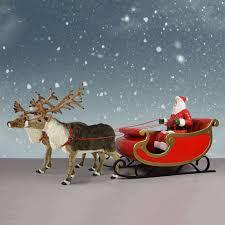 santa sleigh and reindeer displays indoor or outdoor