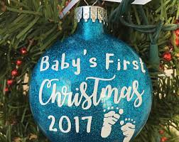 personalized baby christmas ornament baby ornament etsy