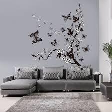 stickers muraux pour chambre chaude noir buttlefly branche d arbre pvc stickers muraux pour
