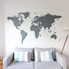 Wall Maps World Map Vinyl Wall Sticker Vinyl Wall Stickers Wall Sticker