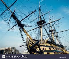 uk england portsmouth historic dockyard hms victory from stock