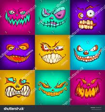 halloween monsters halloween monsters set handdrawing vector illustration stock