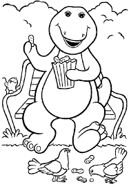 barney coloring pages getcoloringpages