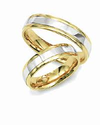 two tone wedding rings product detail